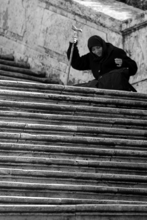 Mendicant, Spanish Steps