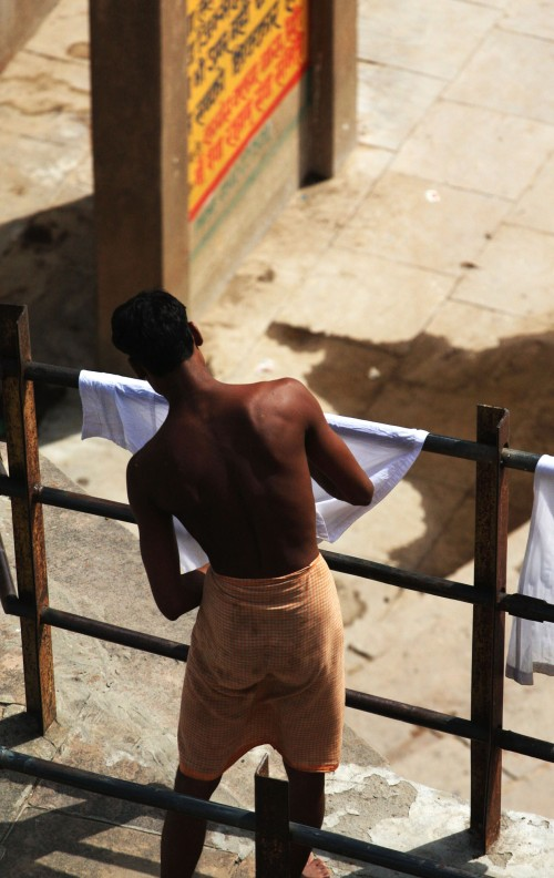 Varanasi washerman