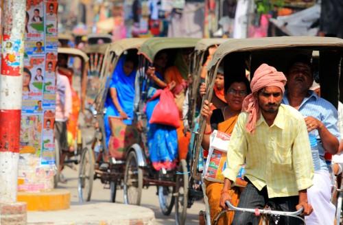 Rickshaw traffic, Varanasi