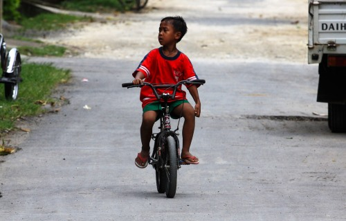 Cycling boy, Ubud