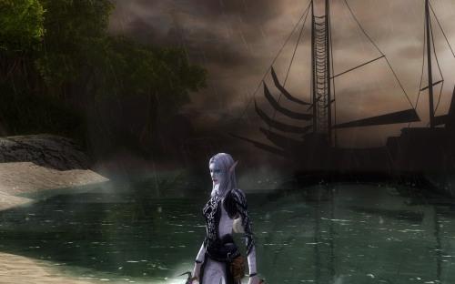 Bethanie, fresh off the boat at Sorrowdusk Isle