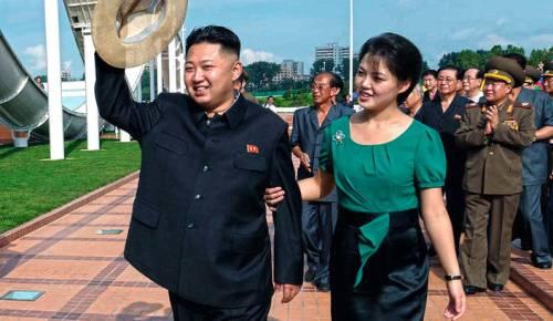 Kim with wife