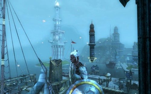 Winter in Stormreach harbour