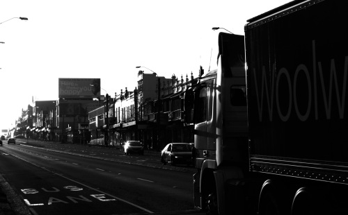 Parramatta Rd, into the west