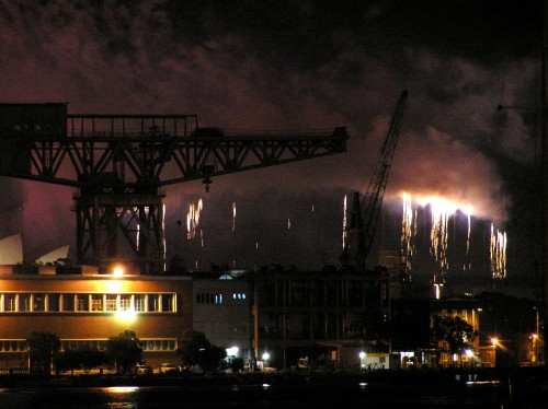Harbour bridge fireworks 1