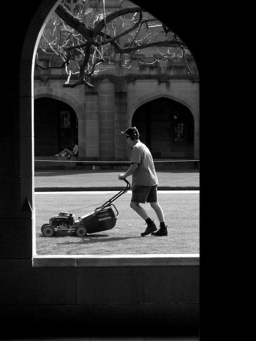 Sydney University lawnmower