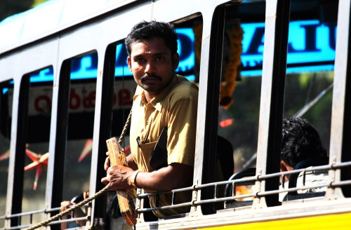 Bus conductor Varkala town