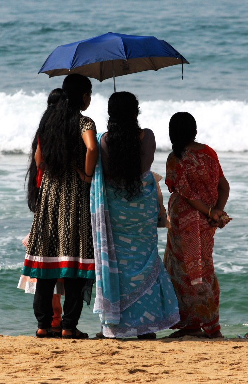 8360 ladies on Varkala beach