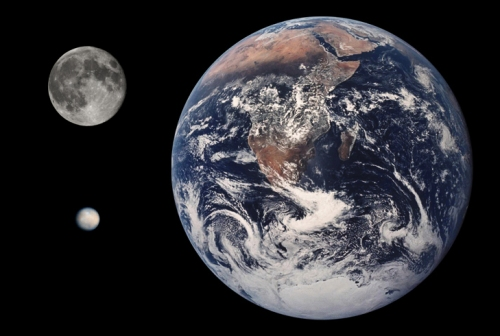 Ceres Earth Moon Comparison