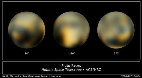 Pluto surface images from Hubble