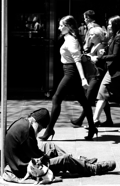 Different Pace of Life - Pitt Street Mall, Sydney, October 9, 2011