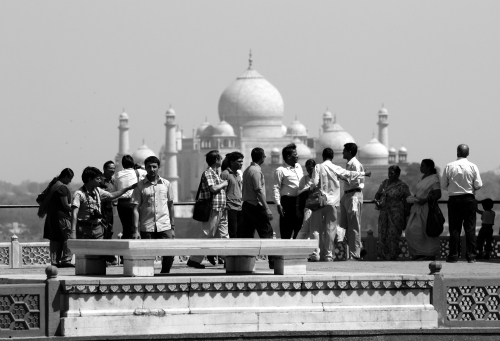 Taj Mahal from Agra Fort, March 20, 2010