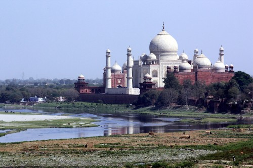 Taj Mahal on the River Yamuna, March 20, 2010
