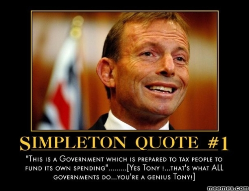 Tony Abbott Simpleton