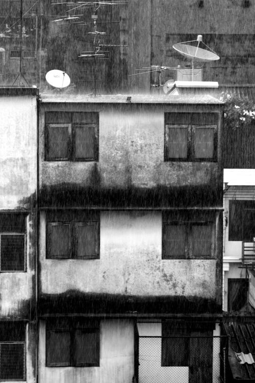 Heavy rain, Bangkok afternoon, July 7, 2009