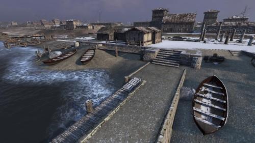 Coastal city docks
