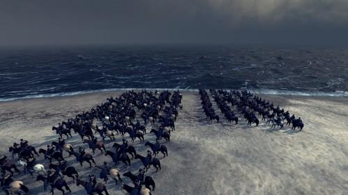 Cavalry on the coast of Spain