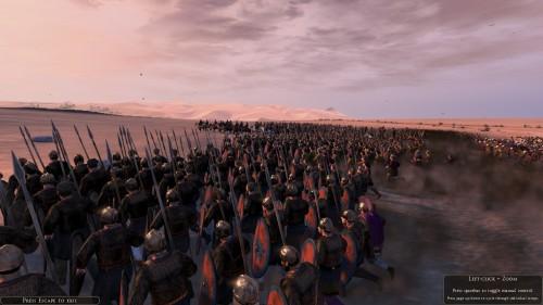 Legions fighting in the desert