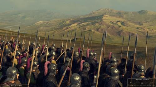 Roman spearmen in the hills