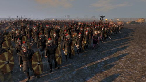 Elite troops waiting in camp
