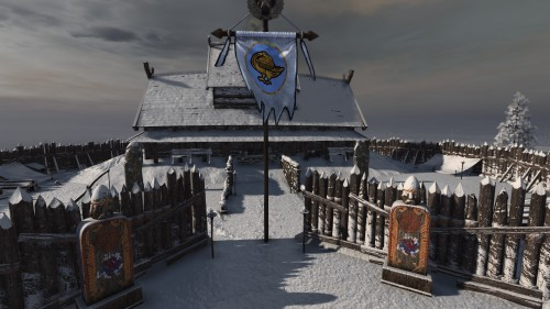 The chieftain's longhouse