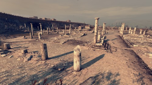 Many cities have abandoned, ruined areas which contain ruins of an earlier, classical style