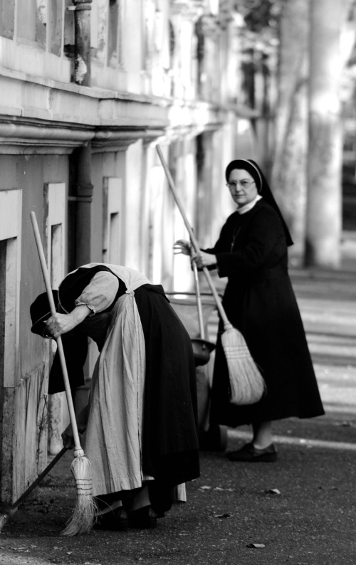 Sweeping Nuns, Rome, October 3, 2013