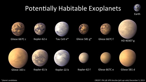 Potentially habitable exoplanets
